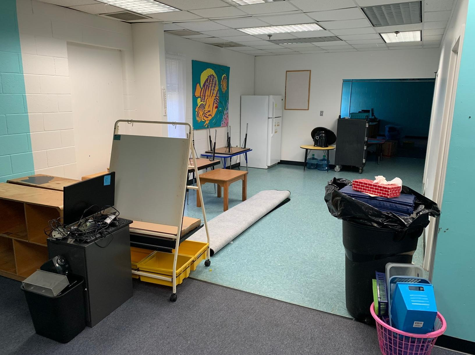 Preschool Furniture Removal in Williamsburg, VA - Before Photo