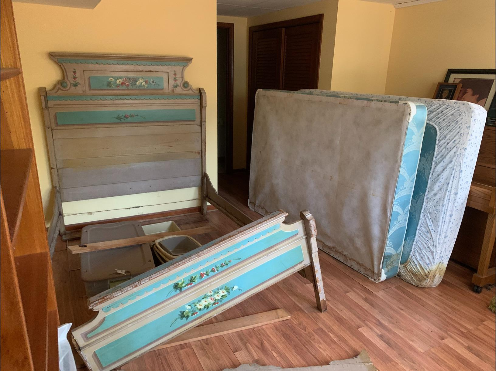 Bed and Mattress Removal in Williamsburg, VA - Before Photo