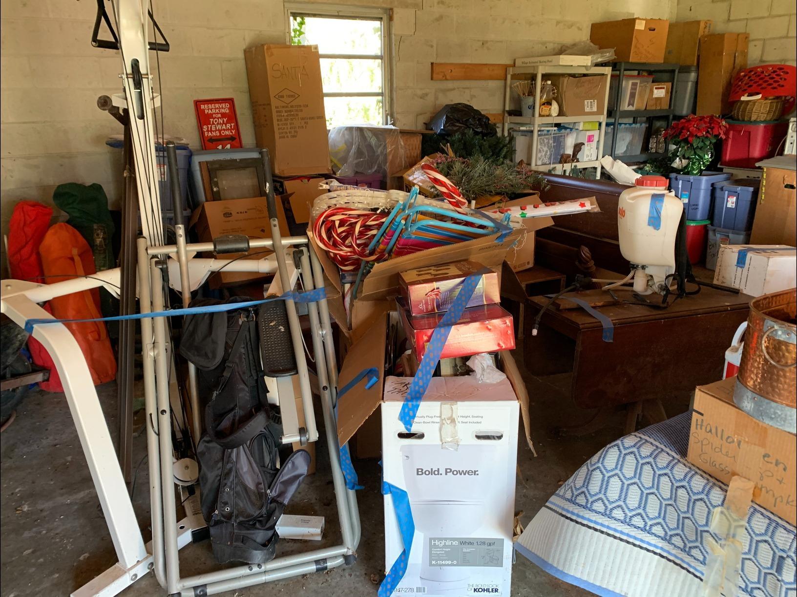 Garage Decluttering in Toano, VA - Before Photo