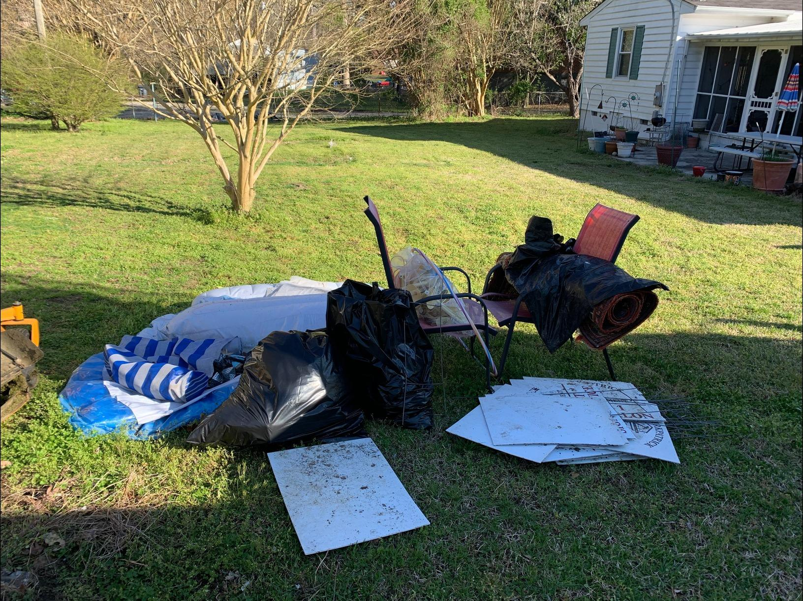 Yard Junk Removal in Toano, VA - Before Photo