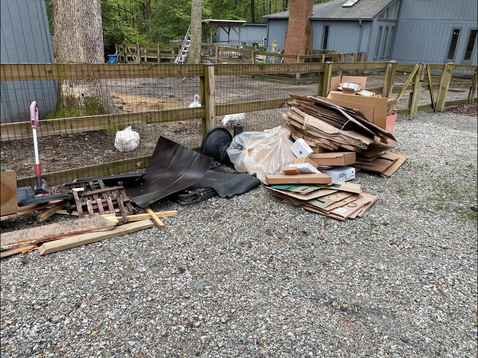 Outdoor Debris Removal in Williamsburg, VA - Before Photo