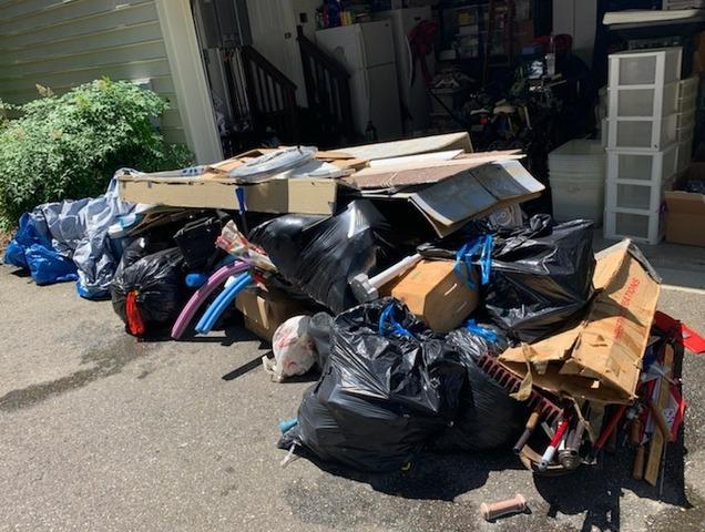 Garage Cleanout in Williamsburg, VA - Before Photo