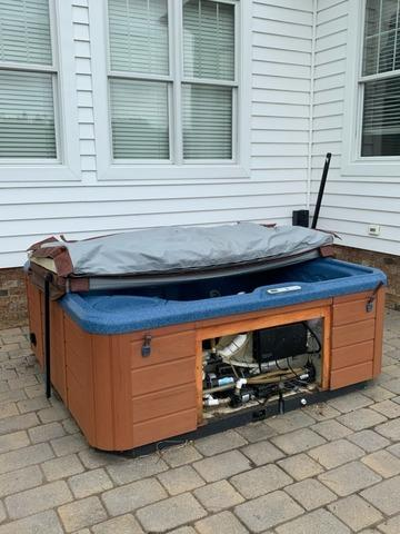 Hot Tub Removal in Williamsburg, VA - Before Photo