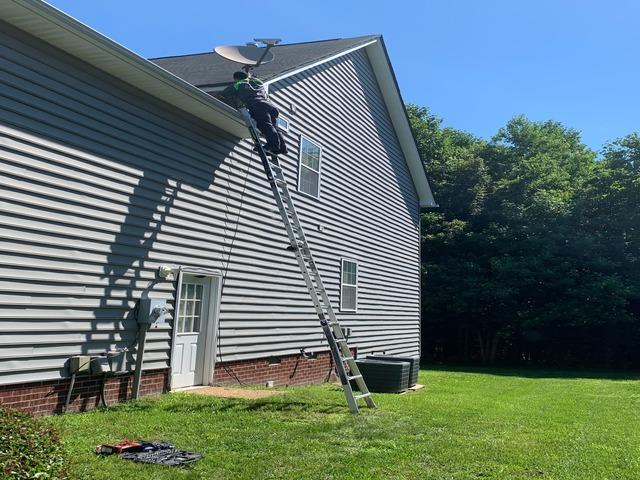 Removing a Satellite Dish in Williamsburg, VA