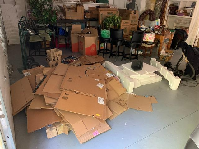 Recycling Cardboard Boxes in Williamsburg, VA - Before Photo