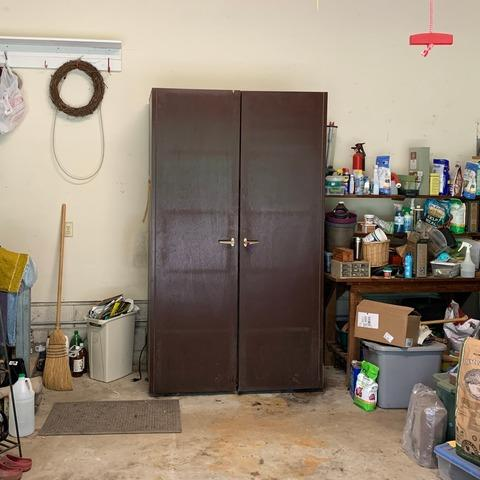 Removing a Cabinet from a Garage in Yorktown, VA