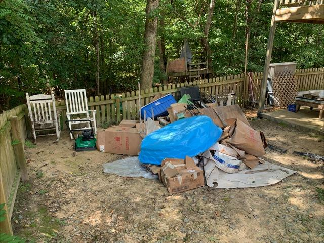Back Yard Clean Up in Williamsburg, VA
