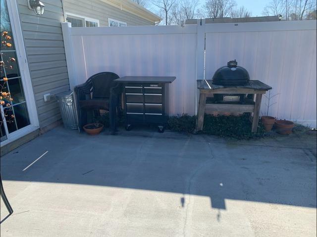 Patio Clean Up in Williamsburg, VA - Before Photo