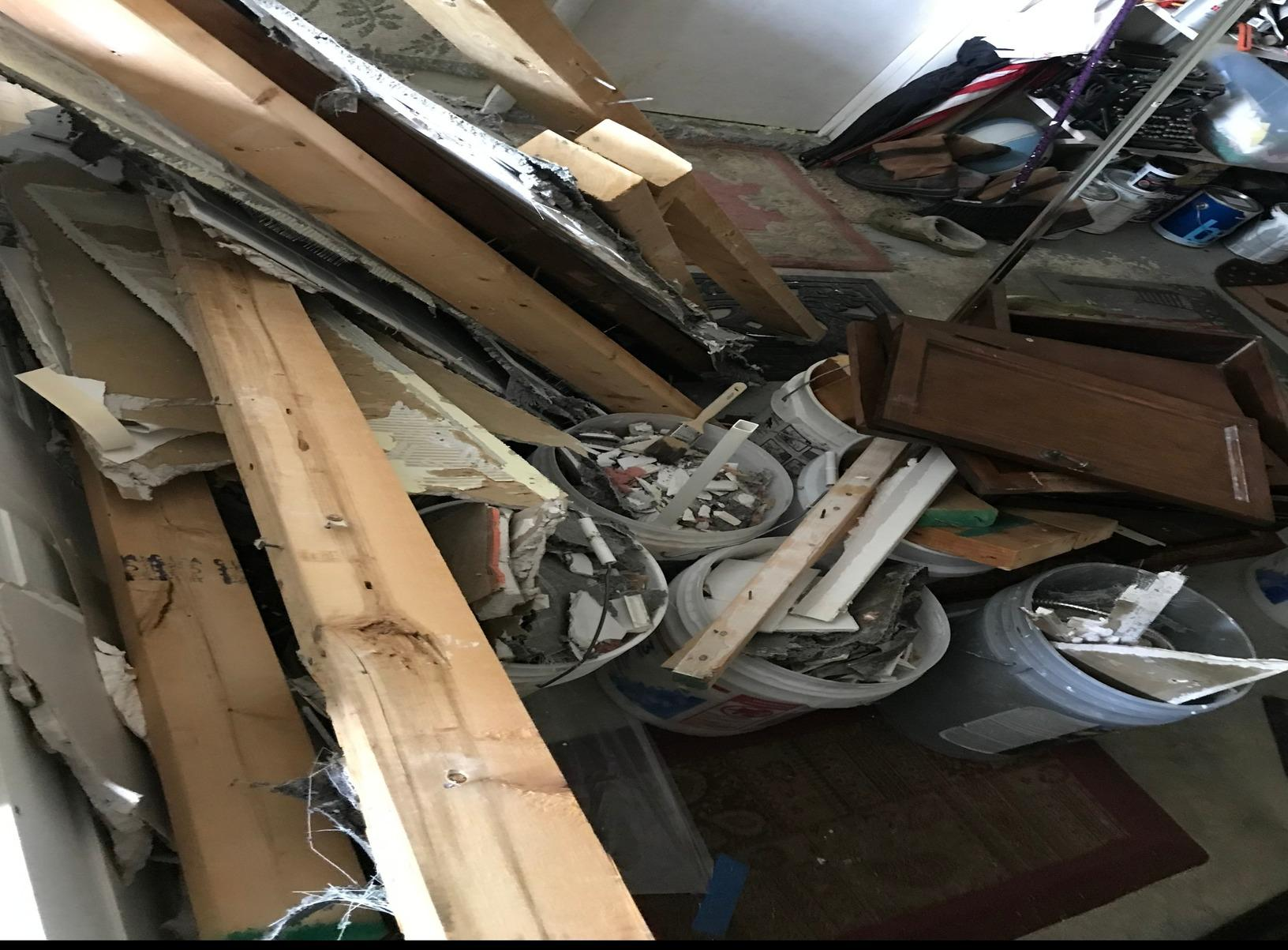 Construction & Demolition Debris Removal in Catonsville, MD - Before Photo