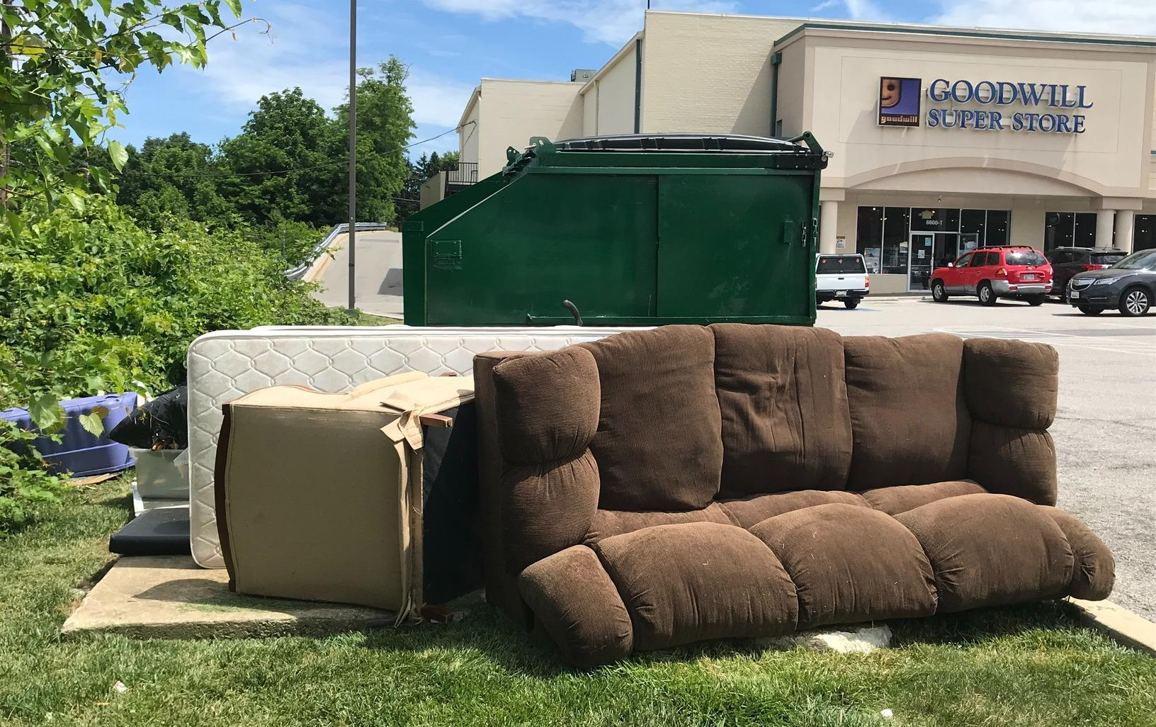 Commercial Junk Removal in Catonsville, MD - Before Photo