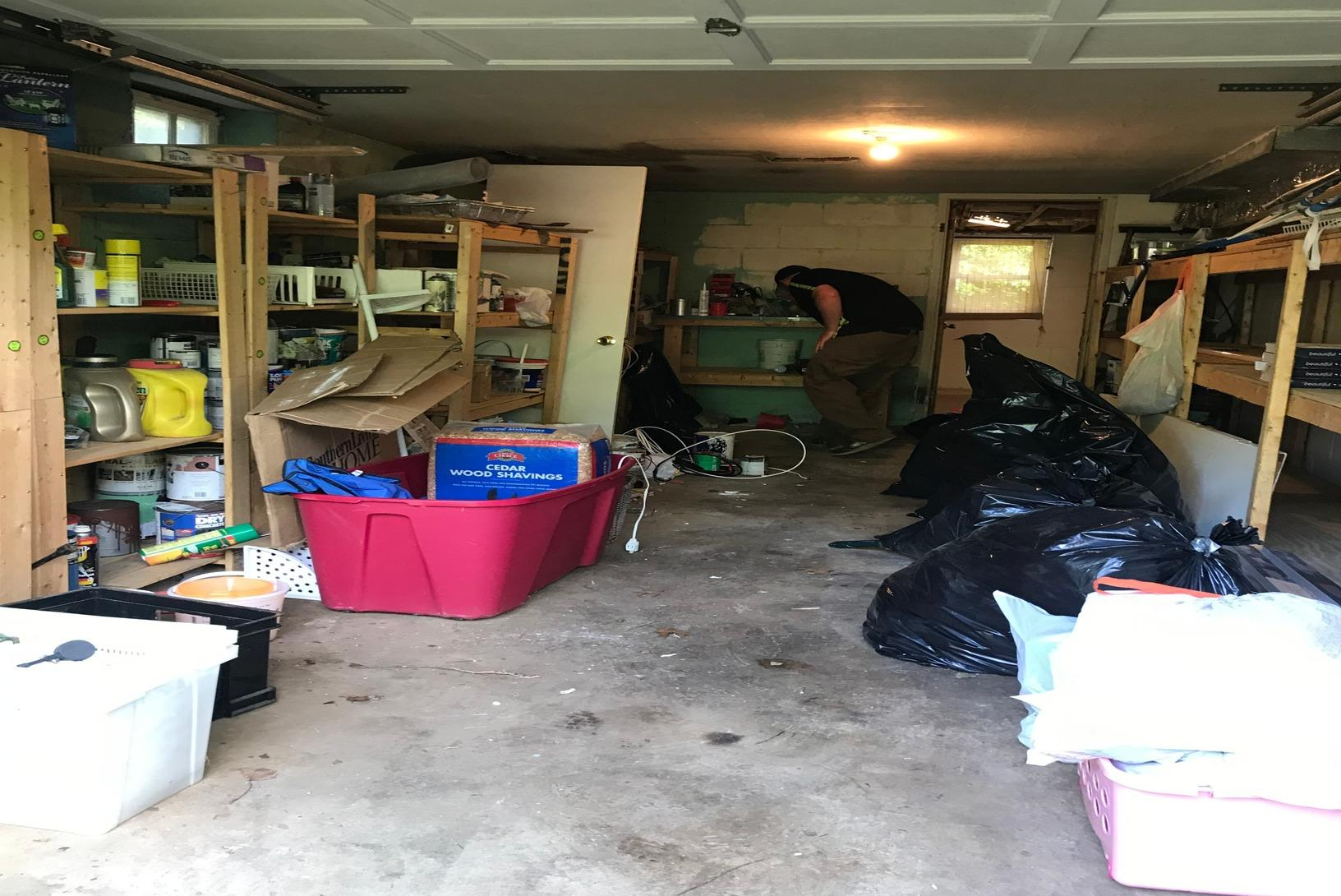 Garage Cleanout in Catonsville, MD - Before Photo