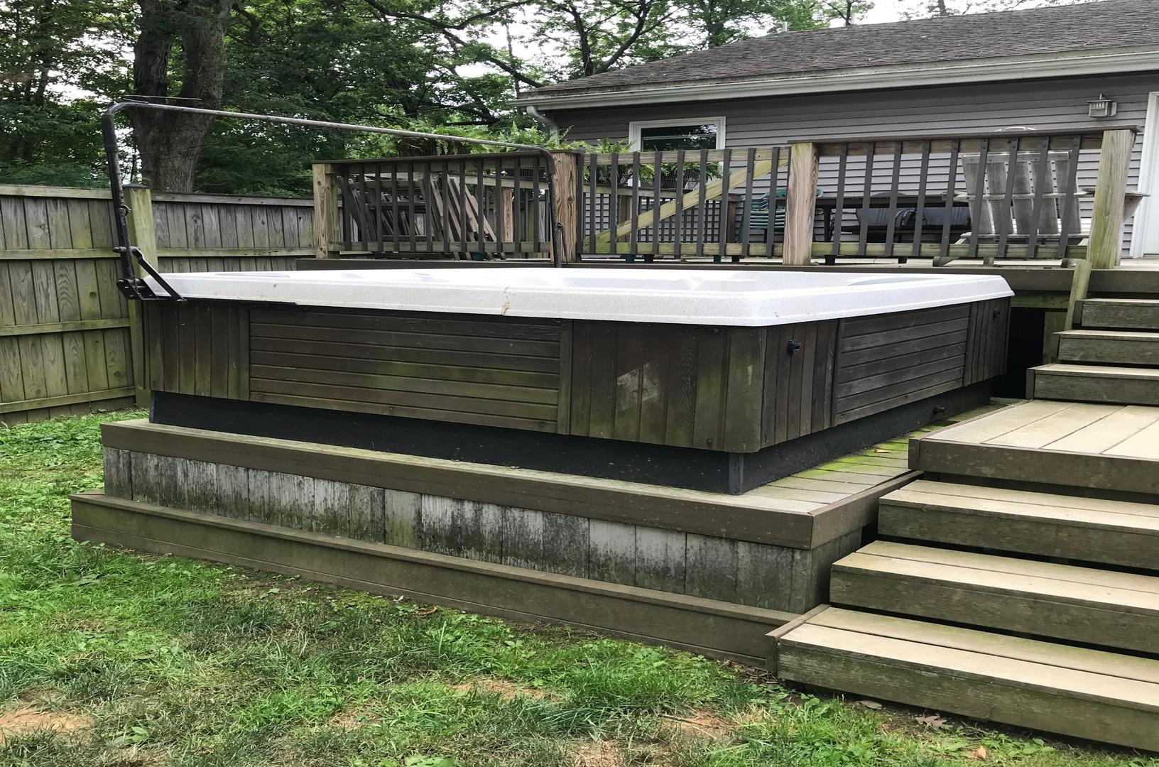 Hut Tub Removal in Catonsville, MD - Before Photo