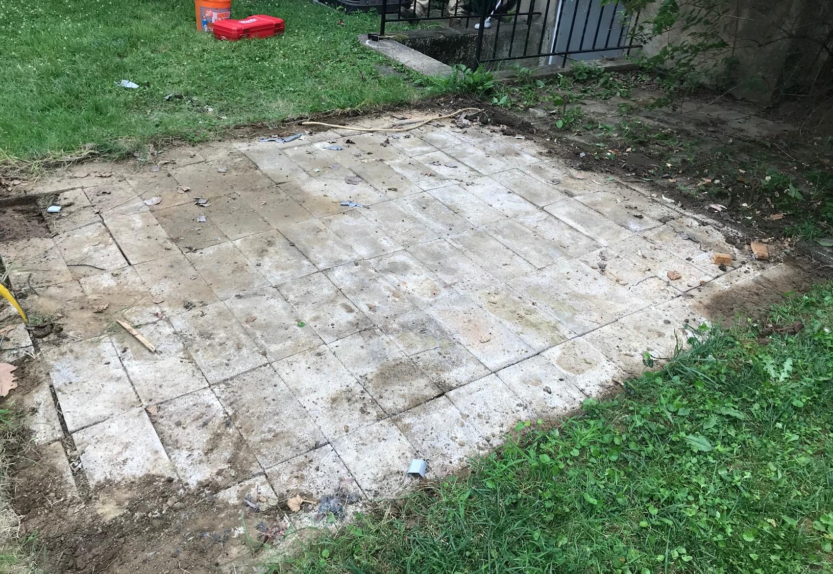 Paver Patio Removal in Catonsville, MD - Before Photo