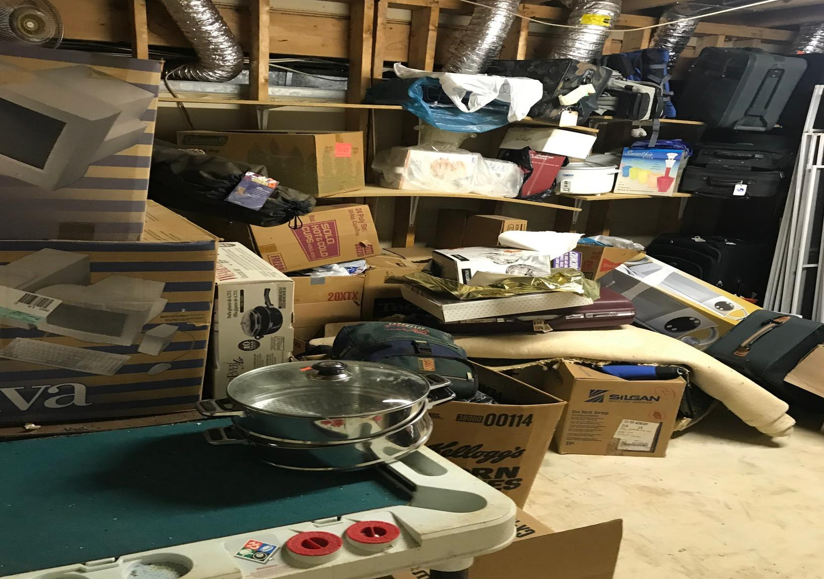 Storage room clean out, Ellicott City MD. - Before Photo