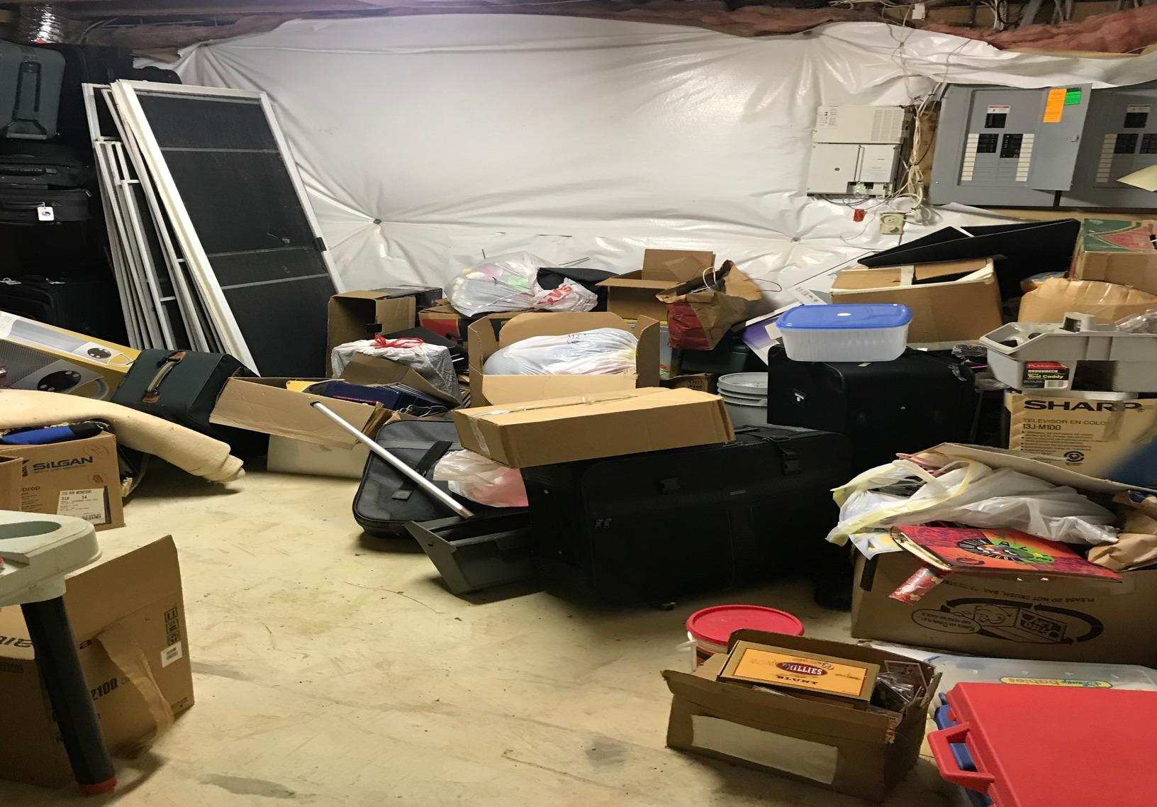 Basement clean out, Ellicott City MD. - Before Photo