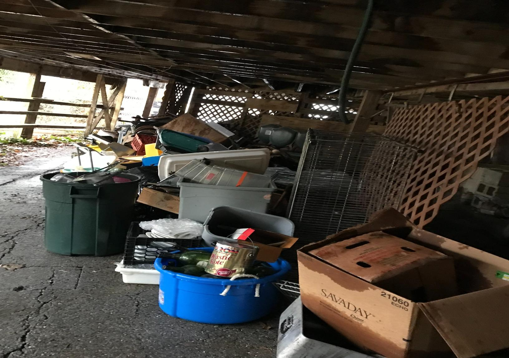 Junk removal, Dayton MD - Before Photo