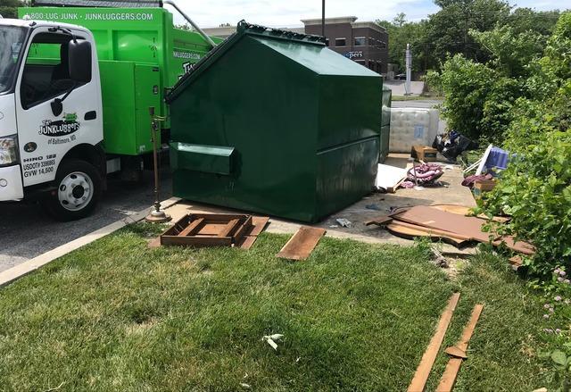 Bulk Trash Pickup in Catonsville, MD - Before Photo