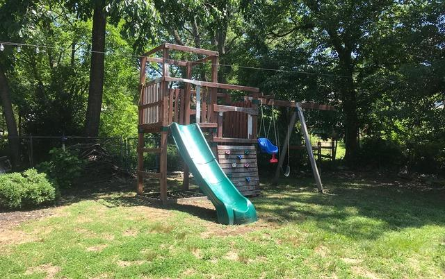 Swing Set Removal in Catonsville, MD - Before Photo