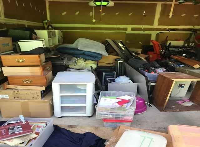 Garage clean out, Ellicott City MD - Before Photo