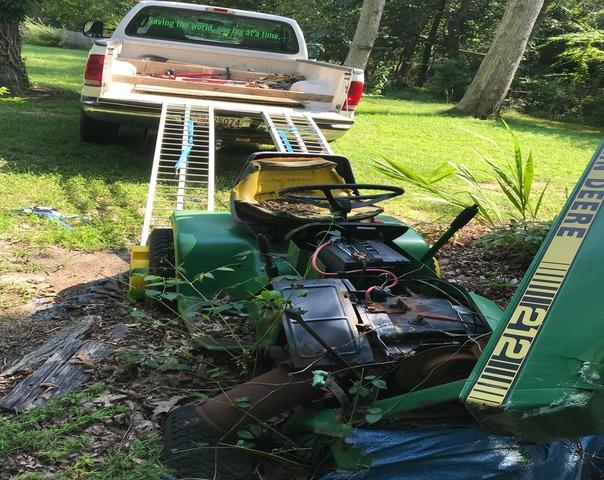 Lawn tractor removal & recycling, Pasadena MD.
