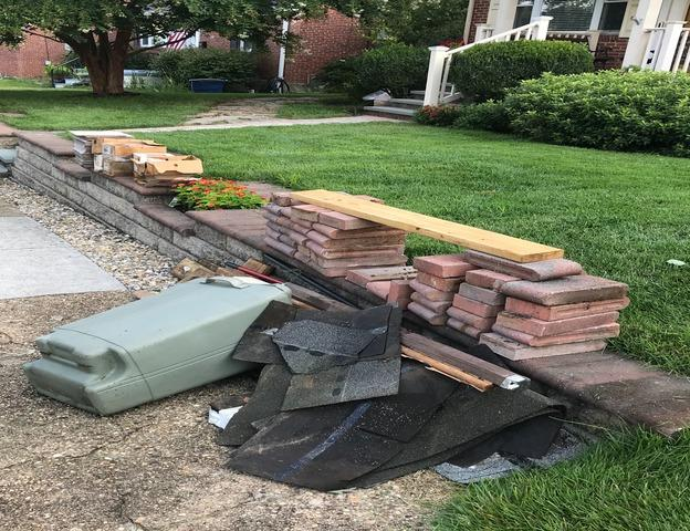 Renovation debris removal, Catonsville MD.