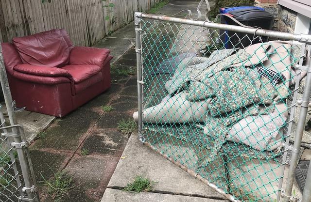 Wet carpet, flood debris removal, Baltimore MD.