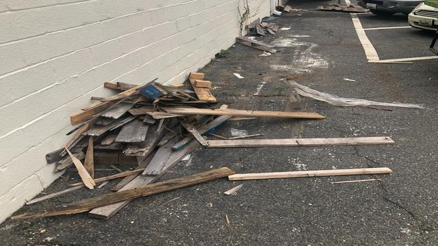 Renovation Debris clean up, Baltimore MD.