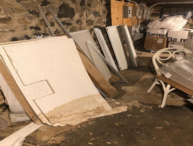 Basement junk cleanout, Catonsville MD.