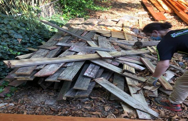Wood decking removal, Glen Burnie MD