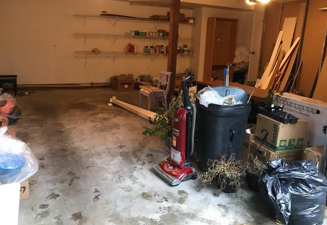 Garage clean out, Columbia MD. - Before Photo