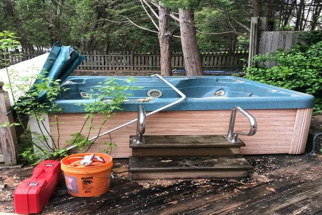 Hot tub removal and recycling, Columbia MD
