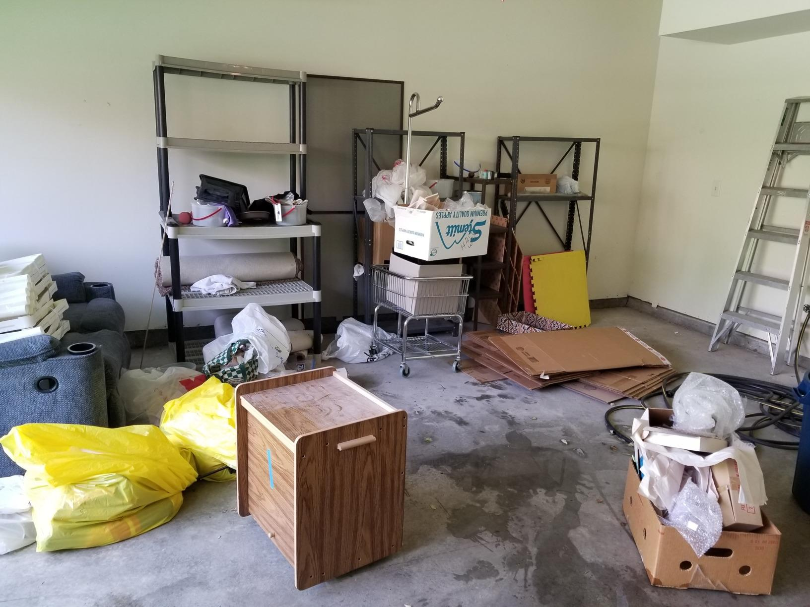 Garage Cleanout in Olathe, KS - Before Photo