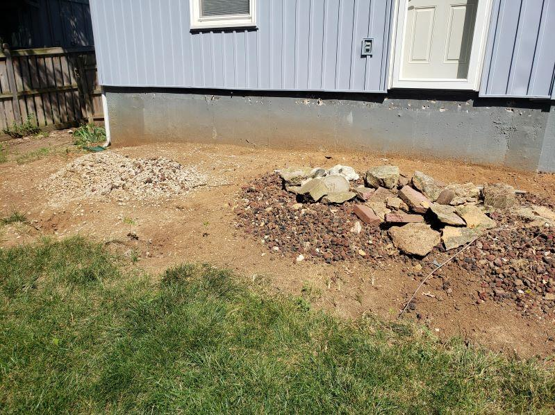 Rock Removal in Lenexa, KS - Before Photo