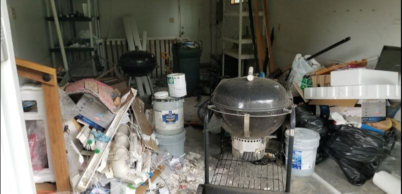 Garage Cleanout in Overland Park, KS - Before Photo