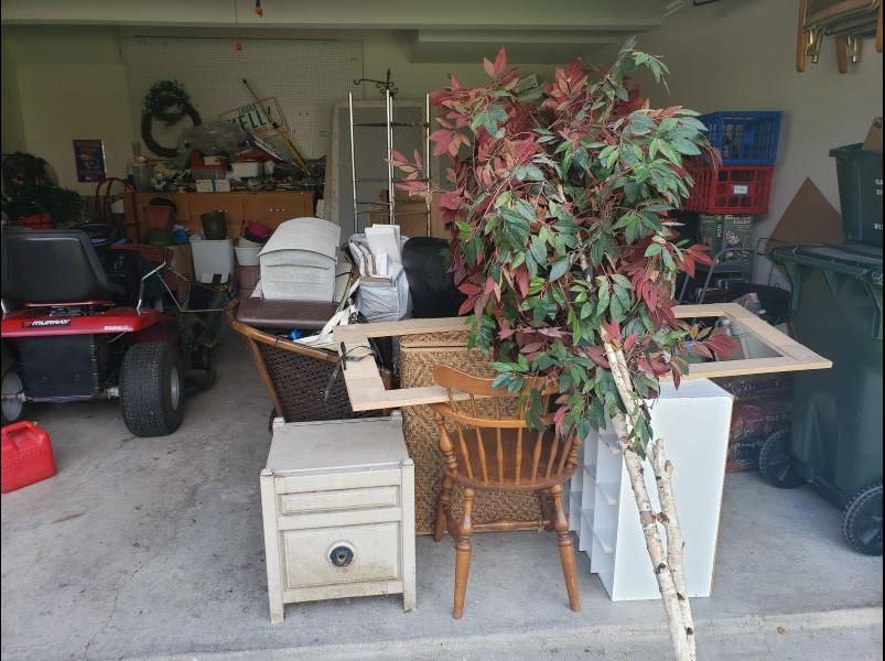 Garage Cleanout in Gardner, KS - Before Photo