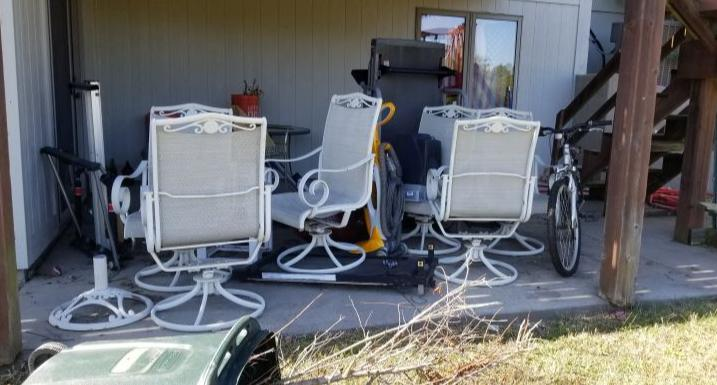 Patio Furniture Removal in Topeka, KS - Before Photo