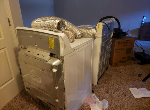 Washer and Dryer Removal in Olathe, KS - Before Photo