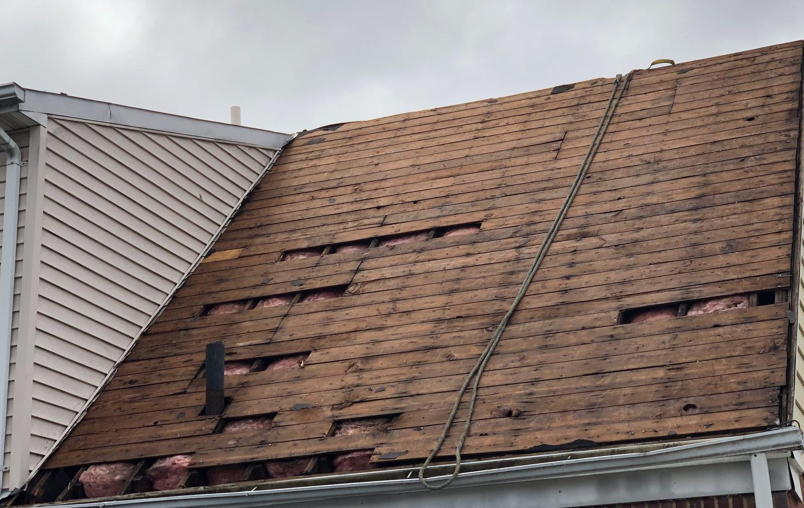 Roof Replacement in New Hyde Park, NY - Before Photo