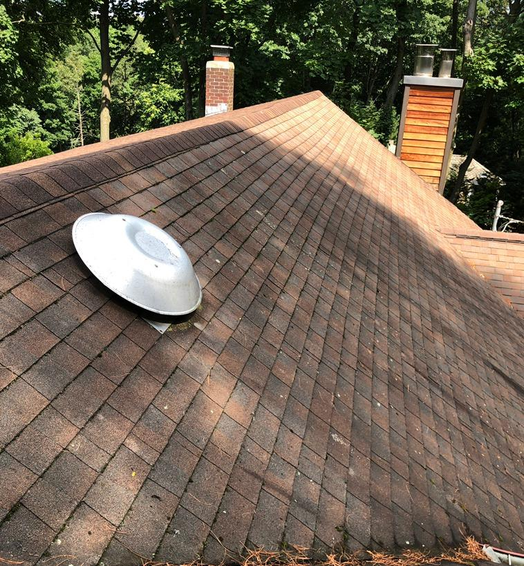 Roof Replacement in Manhasset, NY - Before Photo