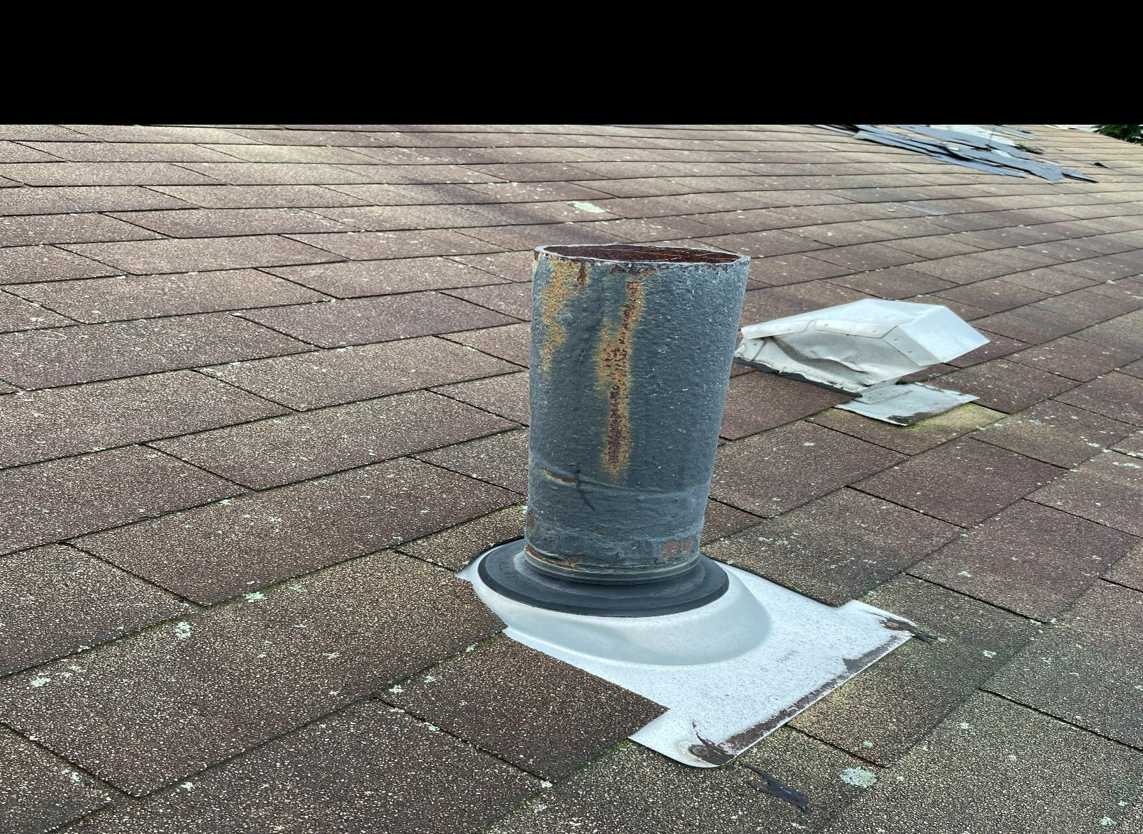 New Perma-Boot for Vent Pipe Installed in Kings Park, NY - Before Photo