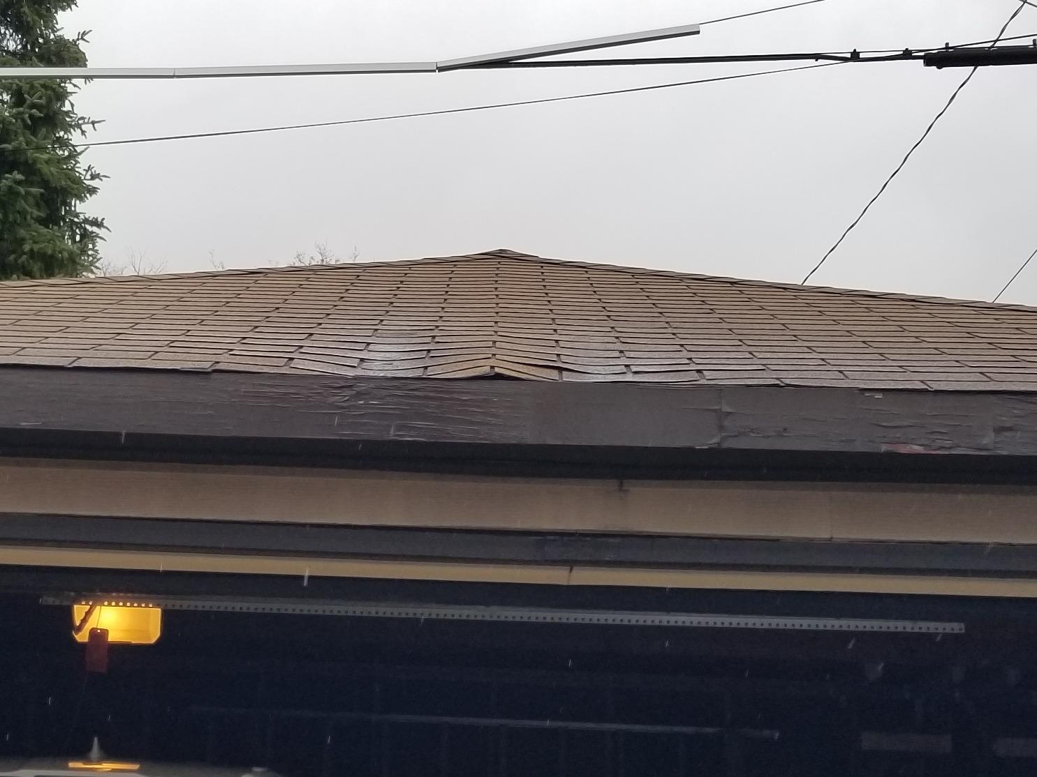 Garage Roof Repair - Wauwatosa - Before Photo