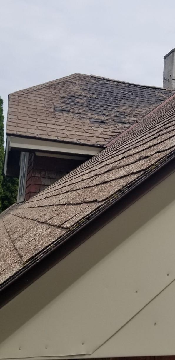 New Roof South Milwaukee - Before Photo