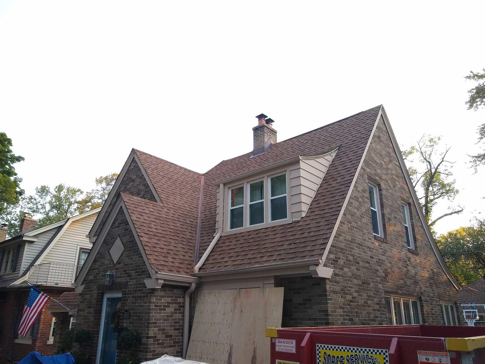 Roof Replacement- Whitefish Bay - Before Photo