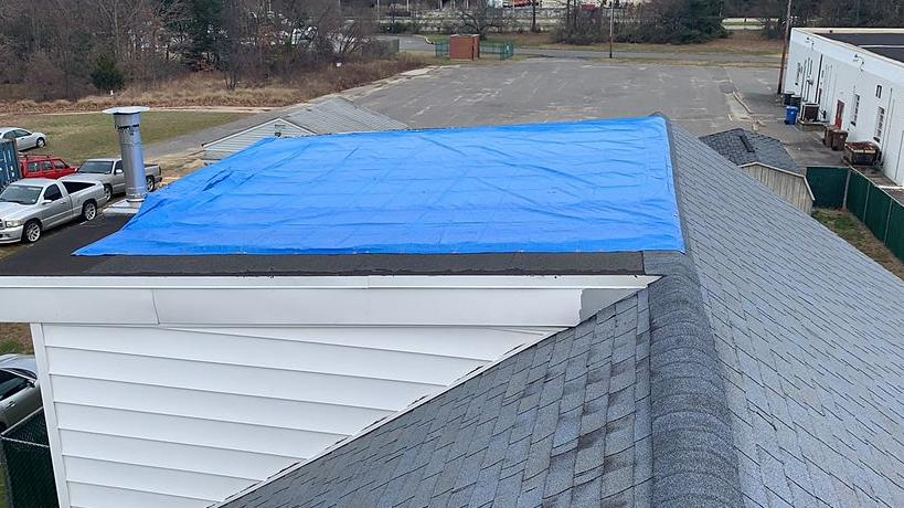 Roof Repair in Logan Township New Jersey 08014 - Before Photo