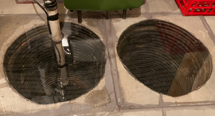 Sealed Sump Pit Reduces Radon Gas in Grand Island, NE - Before Photo