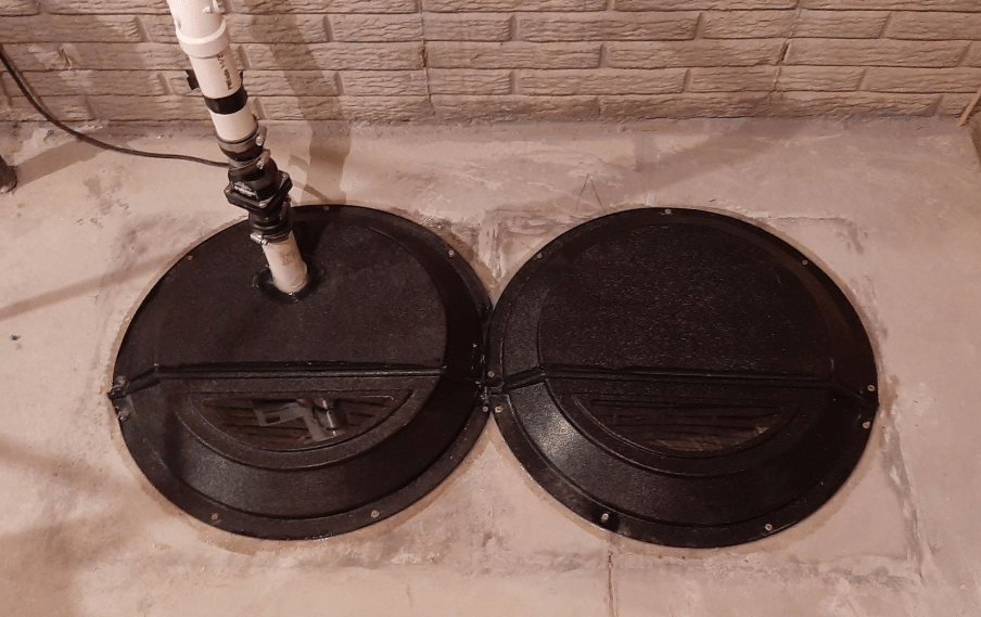 Sealed Sump Pit Reduces Radon Gas in Grand Island, NE - After Photo