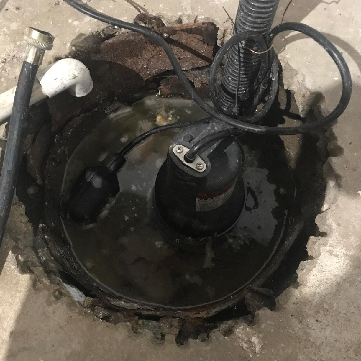 Sump Pit Seal Upgrade in Falls City, NE - Before Photo