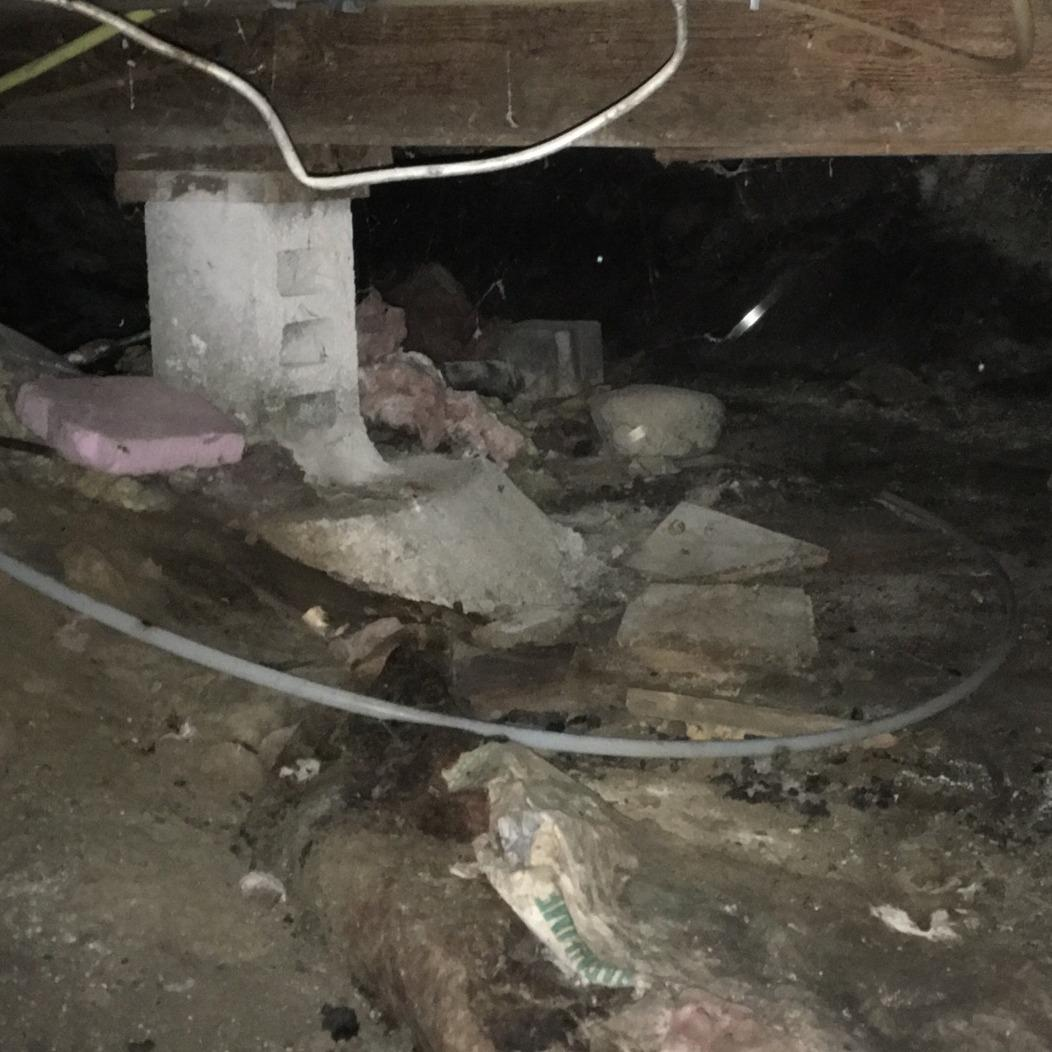 Crawlspace Transformation in Lakeside, IA - Before Photo