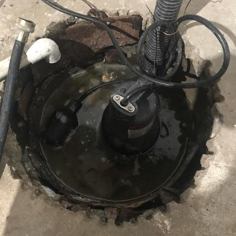 Sump Pit Seal Upgrade in Falls City, NE