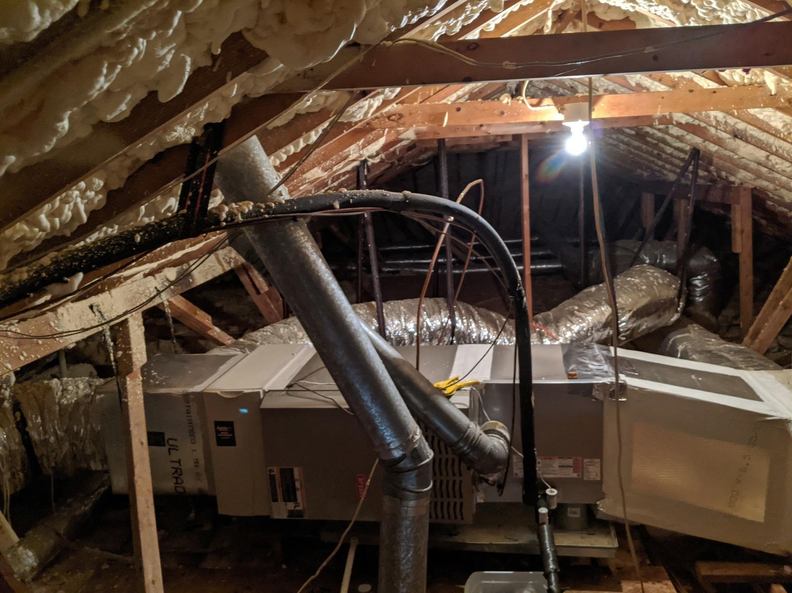 Duct Sealing in Rincon, GA - Before Photo